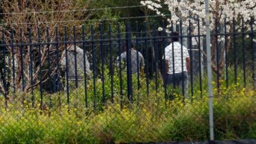 Detainees at the centre in Broadmeadows. (Digitally altered image)