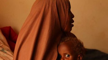 Halima Hussan with her son, Mohammed Hussan, at a hospital in the Dadaab refugee camp.