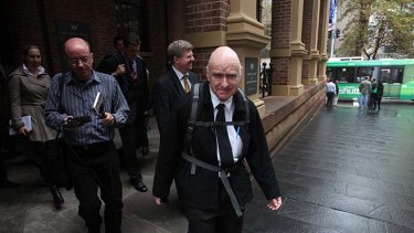 """It's over"" ... David Scott Matthers, leaving the Supreme Court, received a suspended sentence."