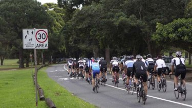 Go slow ... a new safety improvement plan proposed for Centennial Park aims to reduce the speed of bike riders on the main road of the park following recent accidents.