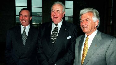 """""""The essential problem with Labour since its election in November 2007 is that it is more like Whitlam [centre] than Hawke [right] and Keating [left]."""""""