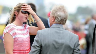 Black Cash's strapper, who was allegedly hit in the mounting yard at Flemington on Thursday.