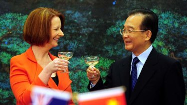 Prime Minister Julia Gillard and Chinese Premier Wen Jiabao ... Australia's historical relationship with the Chinese is the subject of new debate.