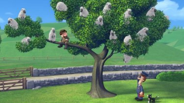 """Unexpected directions: A scene from """"Postman Pat: the Movie""""."""
