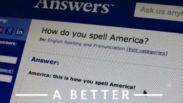 How do you spell America? Not like how it appears in Mitt's app.
