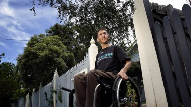 Michael Forbes, once an elite cyclist and triathlete, is a quadriplegic after a truck hit him while he was training on his bicycle in East Brighton last June.