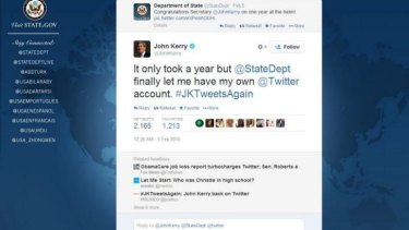 Secretary of State John Kerry welcomes social media clearance from the State Dept.