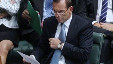 Tony Abbott in Parliament on Wednesday.