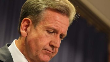 Ordered a secret review: Barry O'Farrell.