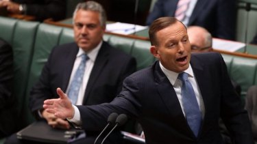 Cavalier with credibility: The budget of Treasurer Joe Hockey, left, made a mockery of election promises made by  Prime Minister Tony Abbott.