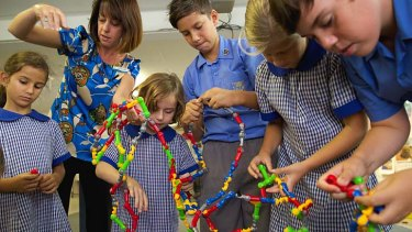 Students at St Cecilia's Primary School, Wyong, learn about resilience.