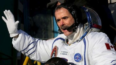 Veteran astronaut ... Hadfield has flown in space three times.