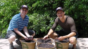 'Superfood' ... Dwayne Martens (right) and Chris Norden with the prized berries.