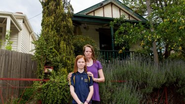 Bronwen Jefferson and her daughter Miranda at home in Kensington. Bronwen was informed that her house would be acquired to make way for the new rail-link.