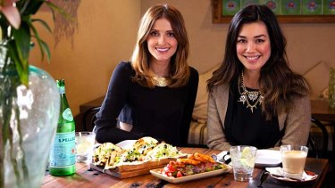 Winning ways: Melanie Vallejo (right) with Kate Waterhouse at the Botanist, Kirribilli.