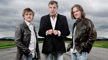 Winning team: <i>Top Gear</i> presenters Richard Hammond, Jeremy Clarkson and James May.