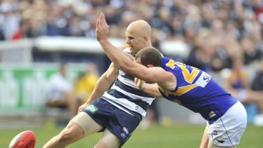 With 33 possessions and four goals, Gary Ablett had another day out at Skilled Stadium, although not without some painful moments.