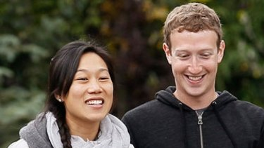 Priscilla Chan and husband Mark Zuckerberg.