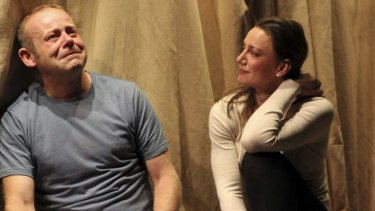 Huw Higginson and Amanda Stephens-Lee in On the Shore of the Wide World.