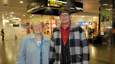 Travel bonus: Patricia and Bob Newall before flying out to New Zealand yesterday.