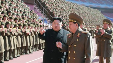 FIGHTING WORDS: North Korean leader Kim Jong-un  has threatened to attack the US over its annual military exercise with the South.