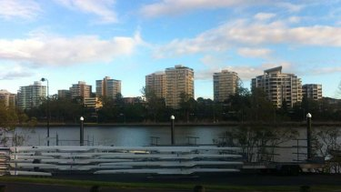 The scene at the Davies Park Rowing Complex.
