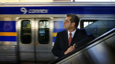 """Connex chairman Jonathan Metcalfe at Flinders Street Station last week. He says patronage growth """"greater than anywhere in Australia or probably anywhere else in the world"""" has caused problems."""