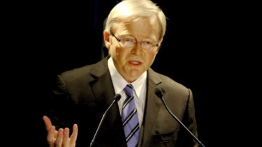"""""""Speaking in Ruddles"""" ... Prime Minister Kevin Rudd was cited as an Australian example of someone speaking in bureaucratic jargon."""