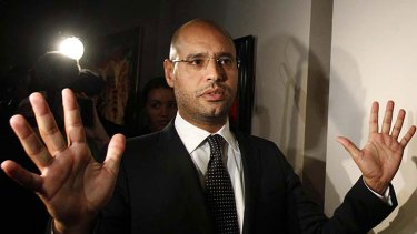 Visitors Down Under ...  Saif al-Islam Gaddafi, the dictator's heir.