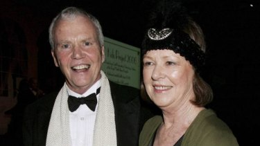 Dr Antony Kidman and his wife Janelle at a fundraiser at Luna Park in 2006.