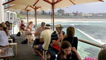 Best view ... Crabbe Hole Cafe, Bondi Beach.