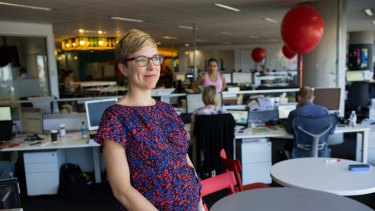 Sophia Parish, who works for Vodafone, says the new working hours for mums offers more flexibility.