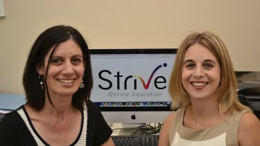 Sharon Branicki and Hayley Traub are helping students through their online tutoring service.