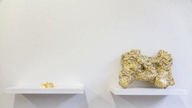 Eugenia Lim's recreation of <i>Vault</i>, the Melbourne sculpture known as the Yellow Peril, and the Welcome Stranger gold nugget.