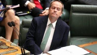 """Opposition Leader Bill Shorten: Mr Cormann's put-down """"sexist name-calling""""."""