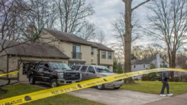 The home in Virginia where a couple were shot dead.