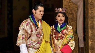 Watch out Lauren Jackson: Bhutan's queen Jetsun Pema Wangchuk at her wedding to King Jigme Khesar Namgyel Wangchuck in 2011.