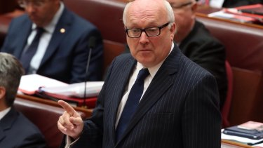 Attorney-General George Brandis introduced a new regulation to raise the fees during the winter break.