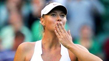 Loudest of them all ... Maria Sharapova.