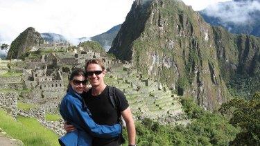 Linda Benton and David Rule at Macchu Pichu.