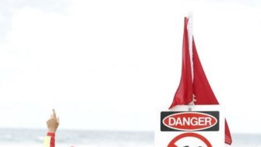 Dangerous surf conditions have closed beaches north and south of Brisbane.