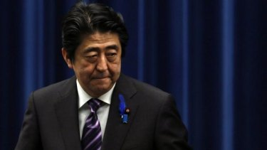 """Prime Minister Shinzo Abe: """"This is not going to change Japan into a country that wages wars."""""""