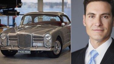 Dr Jayson Oates hopes his 1959 Vega will raise $250,000 on eBay.