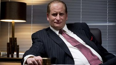 Lachy Hulme as Kerry Packer in <em>Howzat! Kerry Packer's War</em>.