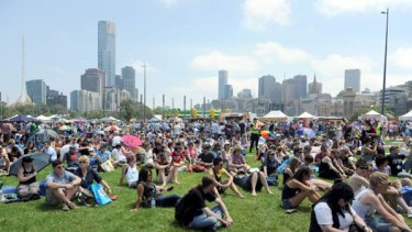 A record crowd of 100,000 attended the opening of Midsumma.