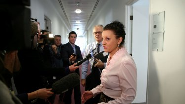 PUP senator Jacqui Lambie, pictured with Malcolm Turnbull, has praised the new Prime Minister.