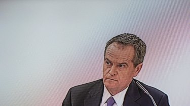 Bill Shorten appears before the trade union royal commission in July.