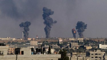 The aftermath of an Israeli airstrike on Gaza International Airport.