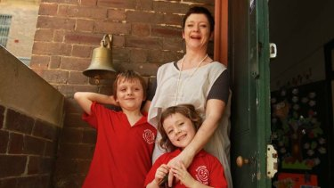 Secret to success … Charlotte Johnstone with her children, Finnigan, 7, and Phoebe-Bijou, 4, whose school outranked most exclusive private high schools.