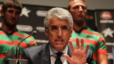 A leader through thick and thin: Souths chairman Nick Pappas.